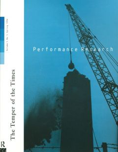 Front cover of Performance Research: Volume 1 Issue 1 - The Temper of the Times