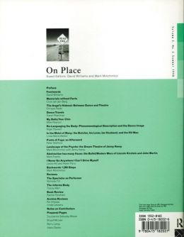 Back cover of Performance Research: Volume 3 Issue 2 - On Place
