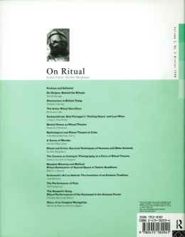 Back cover of Performance Research: Volume 3 Issue 3 - On Ritual