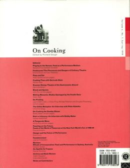 Back cover of Performance Research: Volume 4 Issue 1 - On Cooking