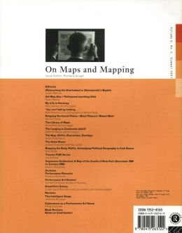 Back cover of Performance Research: Volume 6 Issue 2 - On Maps & Mapping