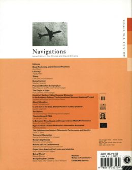 Back cover of Performance Research: Volume 6 Issue 3 - Navigations