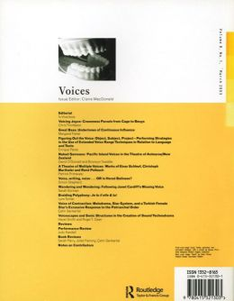 Back cover of Performance Research: Volume 8 Issue 1 - Voices