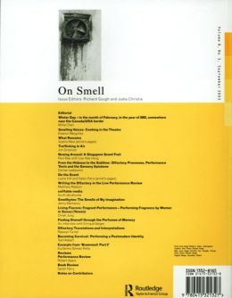Back cover of Performance Research: Volume 8 Issue 3 - On Smell