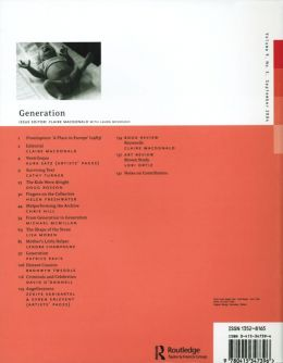 Back cover of Performance Research: Volume 9 Issue 3 - Generation