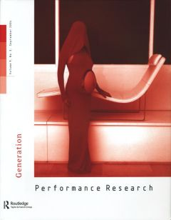 Front cover of Performance Research: Volume 9 Issue 3 - Generation