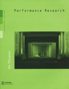 Front cover of Performance Research: Volume 10 Issue 1 - On Theatre