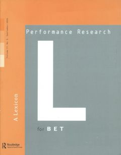 Front cover of Performance Research: Volume 11 Issue 3 - A Lexicon