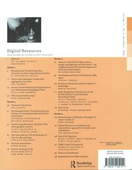 Back cover of Performance Research: Volume 11 Issue 4 - Digital Resources