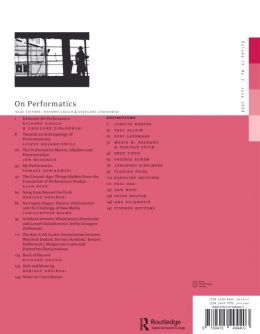 Back cover of Performance Research: Volume 13 Issue 2 - On Performatics