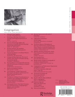 Back cover of Performance Research: Volume 13 Issue 3 - Congregation