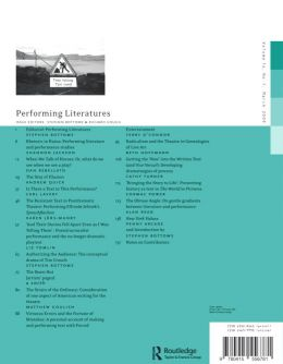 Back cover of Performance Research: Volume 14 Issue 1 - Performing Literatures