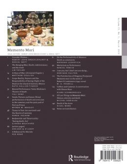 Back cover of Performance Research: Volume 15 Issue 1 - Memento Mori