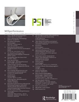 Back cover of Performance Research: Volume 15 Issue 2 - MISperformance