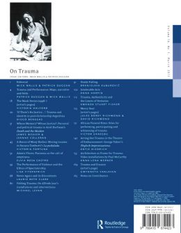 Back cover of Performance Research: Volume 16 Issue 1 - On Trauma