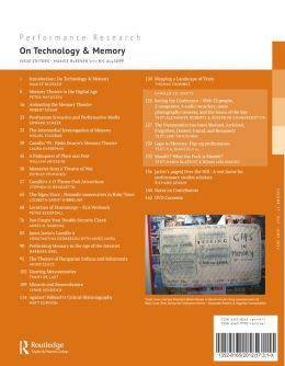 Back cover of Performance Research: Volume 17 Issue 3 - On Technology & Memory