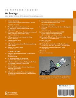 Back cover of Performance Research: Volume 17 Issue 4 - On Ecology
