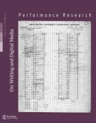 Front Cover of Performance Research: Volume 18 Issue 5 - On Writing & Digital Media