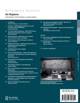 Back cover of Performance Research: Volume 19 Issue 6 - On Rupture