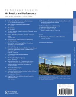 Back cover of Performance Research: Volume 20 Issue 1 - On Poetics and Performance