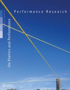Front cover of Performance Research: Volume 20 Issue 1 - On Poetics and Performance