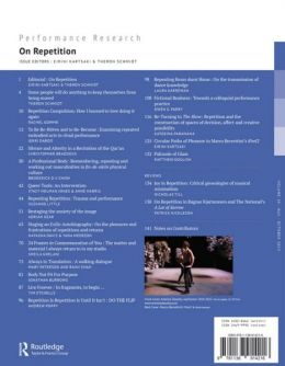 Back cover of Performance Research: Volume 20 Issue 5 - On Repetition