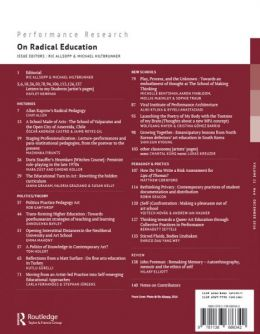 Back cover of Performance Research: Volume 21 Issue 6 - On Radical Education
