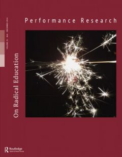Front cover of Performance Research: Volume 21 Issue 6 - On Radical Education