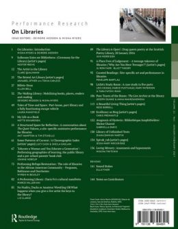 Back cover of Performance Research: Volume 22 Issue 1 - On Libraries