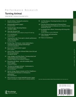 Back cover of Performance Research: Volume 22 Issue 2 - Turning Animal