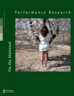 Front cover of Performance Research: Volume 22 Issue 4 - On the Maternal