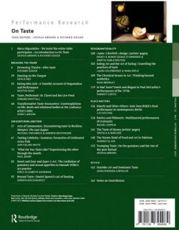 Back cover of Performance Research: Volume 22 Issue 7 - On Taste