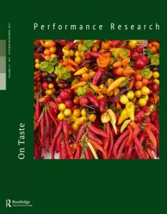 Front cover of Performance Research: Volume 22 Issue 7 - On Taste