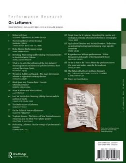 Back cover of Performance Research: Volume 22 Issue 8 - On Leftovers