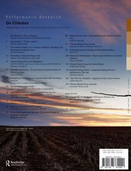 Back cover of Performance Research: Volume 23 Issue 3 - On Climates
