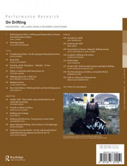 Back cover of Performance Research: Volume 23 Issue 7 - On Drifting