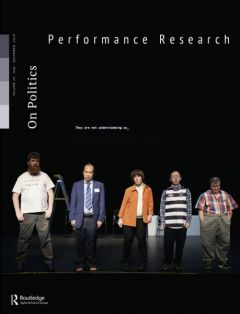 Front cover of Performance Research: Volume 24 Issue 8 - On Politics