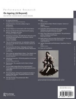 Back cover of Performance Research: Volume 24 Issue 3 - On Ageing (& Beyond)
