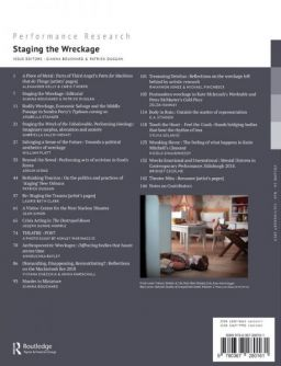 Back cover of Performance Research: Volume 24 Issue 5 - Staging the Wreckage