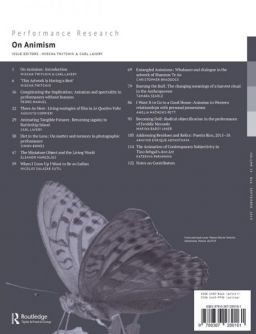 Back cover of Performance Research: Volume 24 Issue 6 - On Animism