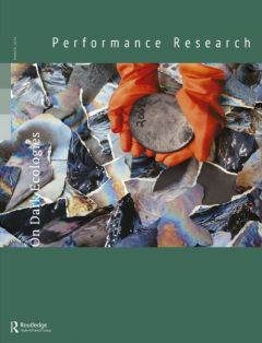 Front cover of Performance Research: Volume 25 Issue 2 - On Dark Ecologies