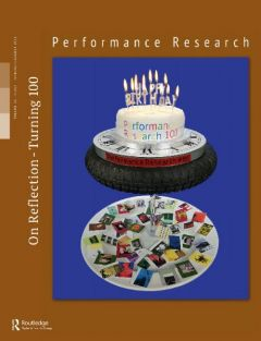 Front cover of Performance Research: Volume 23 Issue 4 - On Reflection : Turning 100